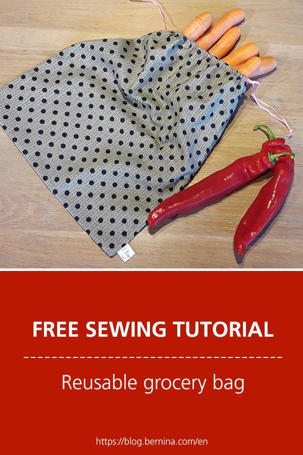 Free sewing instructions for a reusable grocery bag