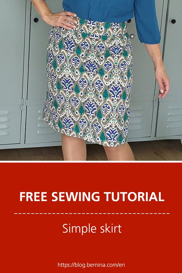 Free sewing instructions for a simple skirt