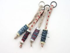 Making key chains out of empty thread spools