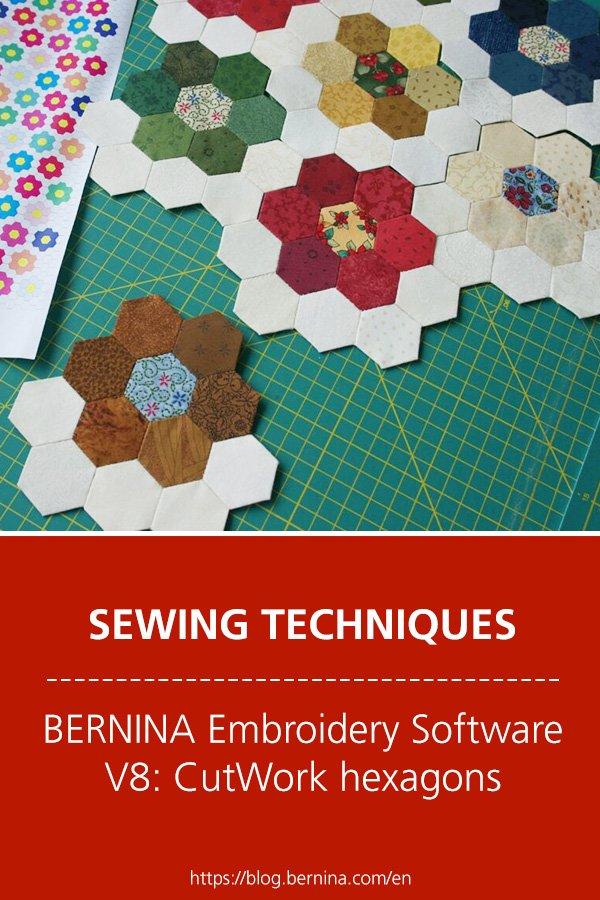 BERNINA Embroidery Software V8: CutWork hexagons
