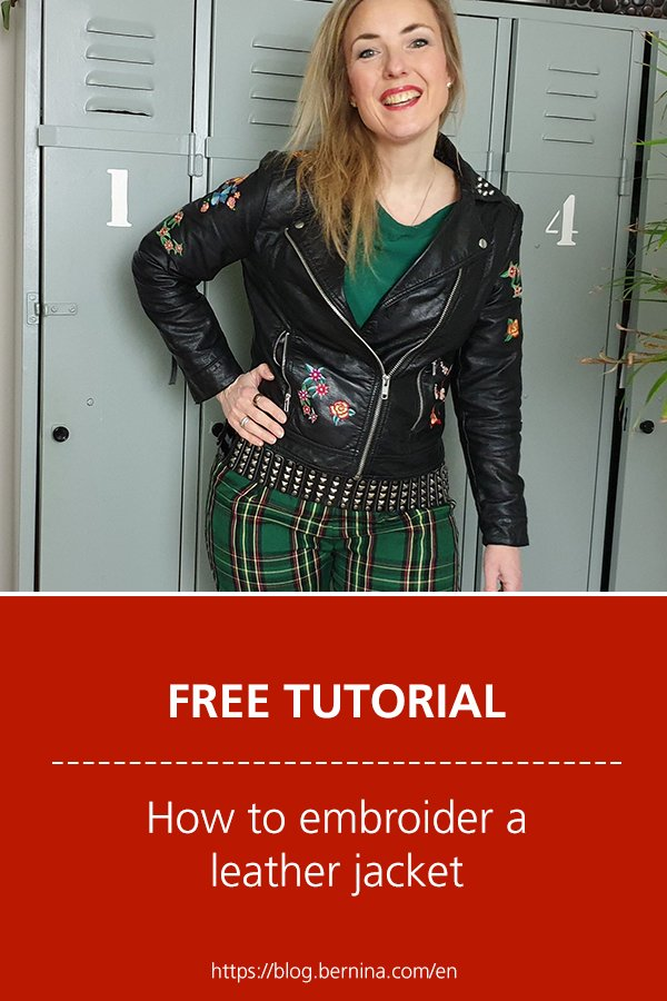 Free sewing instructions: How to embroider a leather jacket