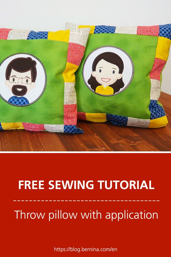 Free sewing instructions: Throw pillow with application