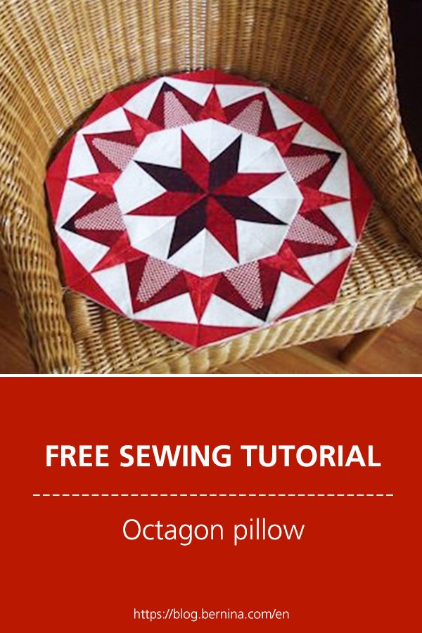 Free sewing instructions: How to sew a octagon pillow